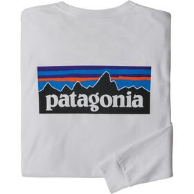 Patagonia P-6 Logo LS Responsibili-Tee Men, wit